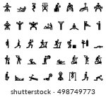 stick figure. sports icons.... | Shutterstock .eps vector #498749773