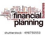 financial planning word cloud... | Shutterstock . vector #498750553