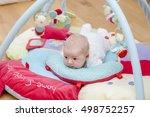 cute newborn baby portrait...   Shutterstock . vector #498752257