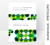 geometric background template... | Shutterstock .eps vector #498761293