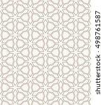 seamless geometric line pattern ... | Shutterstock .eps vector #498761587