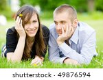 young happy couple | Shutterstock . vector #49876594