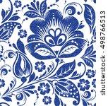 vector blue glittering floral...