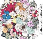 beautiful wallpaper pattern... | Shutterstock .eps vector #498768673
