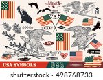 big set of vector hand drawn... | Shutterstock .eps vector #498768733