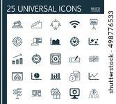 set of 25 universal editable... | Shutterstock .eps vector #498776533