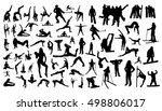 gymnastics and sport set | Shutterstock .eps vector #498806017
