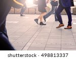 fast feet hurry to work during... | Shutterstock . vector #498813337