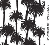 seamless pattern with palm... | Shutterstock .eps vector #498825277