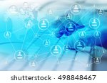 modern social media. concept of ... | Shutterstock . vector #498848467