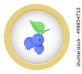 blueberry colorful icon | Shutterstock .eps vector #498854713
