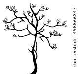 raster illustration. abstract... | Shutterstock . vector #498866347