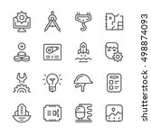 set line icons of engineering... | Shutterstock . vector #498874093