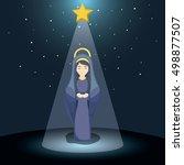 holy mary cartoon design | Shutterstock .eps vector #498877507