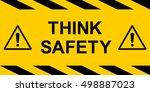 Think Safety Yellow Rectangula...