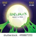 halloween night.poster for...   Shutterstock .eps vector #498887353