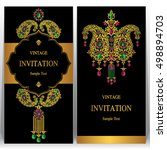 indian wedding invitation or... | Shutterstock .eps vector #498894703