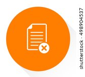 document with cancel icon | Shutterstock .eps vector #498904537