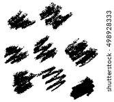vector collection ink hand... | Shutterstock .eps vector #498928333