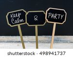 Keep Calm And Party Message...