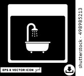 shower bath calendar page icon. ... | Shutterstock .eps vector #498985213