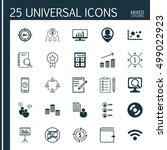set of 25 universal editable... | Shutterstock .eps vector #499022923