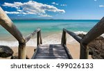 wooden stairs leading to a... | Shutterstock . vector #499026133