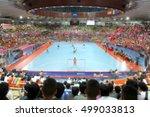 blurred picture of futsal... | Shutterstock . vector #499033813