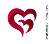 abstract heart logo | Shutterstock .eps vector #499037593