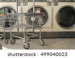 row of industrial laundry... | Shutterstock . vector #499040023