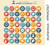 mobile ui elements  vector set... | Shutterstock .eps vector #499042567