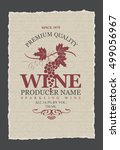vector labels for wine with... | Shutterstock .eps vector #499056967