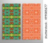 vertical seamless patterns set  ...   Shutterstock .eps vector #499085677