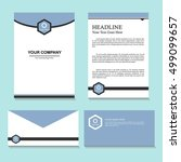 letters and envelope template... | Shutterstock .eps vector #499099657