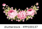 template of invitation card.... | Shutterstock .eps vector #499100137