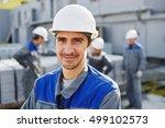 portrait of a builder in... | Shutterstock . vector #499102573