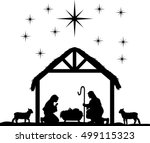 Nativity Scene Silhouettes