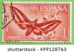 spanish sahara   circa 1964   a ...   Shutterstock . vector #499128763