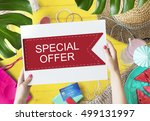 sale discount promotion special ... | Shutterstock . vector #499131997