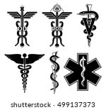 medical symbols graphic is an... | Shutterstock .eps vector #499137373