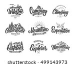 mountain logo lettering vector... | Shutterstock .eps vector #499143973