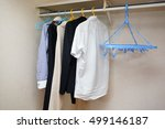business clothes in the closet | Shutterstock . vector #499146187