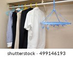 business clothes in the closet | Shutterstock . vector #499146193