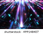 colorful abstract lights... | Shutterstock . vector #499148407