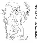 coloring page with a fairy tale ... | Shutterstock . vector #499148533