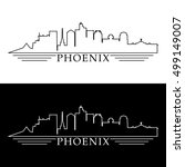 phoenix skyline linear style in ... | Shutterstock .eps vector #499149007