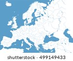 high detailed vector map of... | Shutterstock .eps vector #499149433