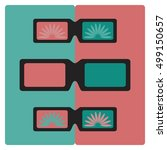set 3d glasses vector... | Shutterstock .eps vector #499150657