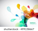 abstract colored background... | Shutterstock .eps vector #499158667