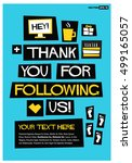 thank you for following us  ... | Shutterstock .eps vector #499165057
